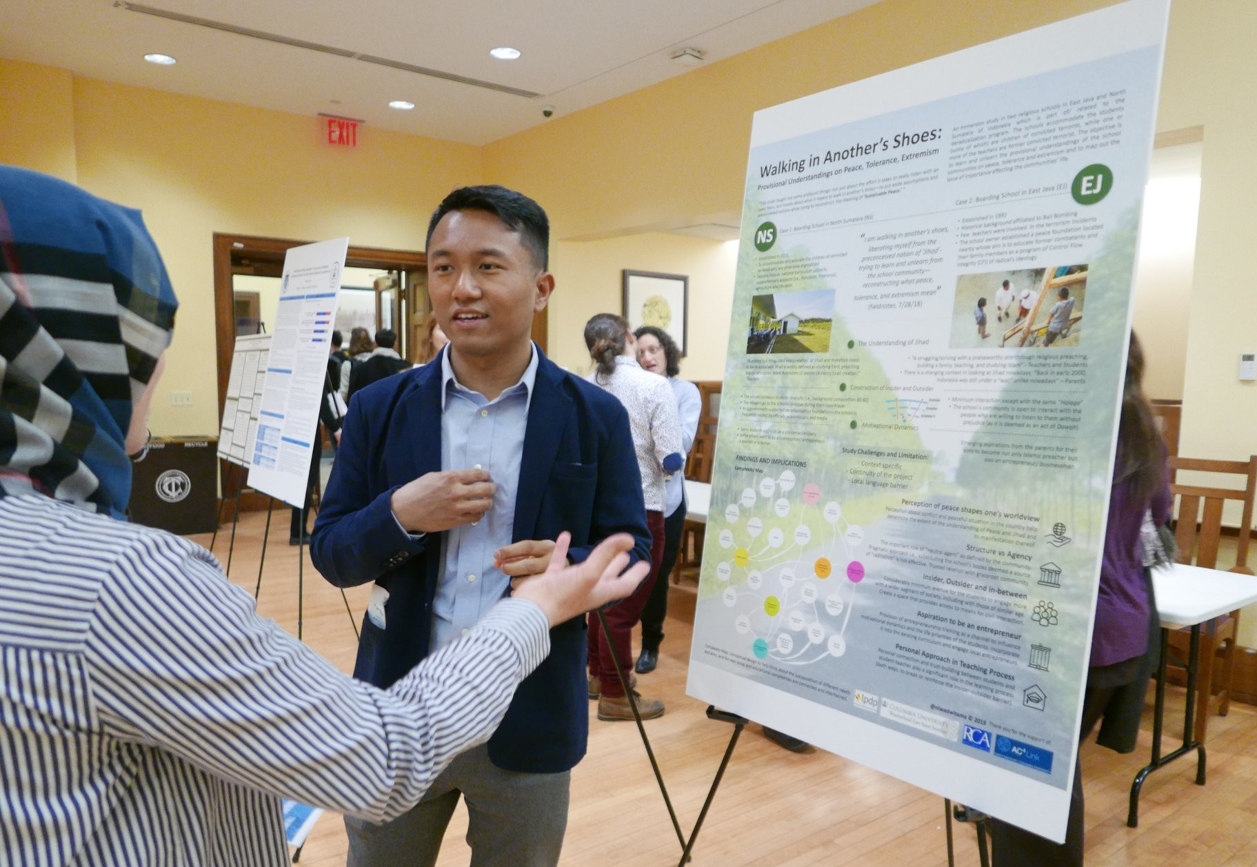 Graduate Student Fellow presenting research at the Annual sustaining peace forum in March 2019