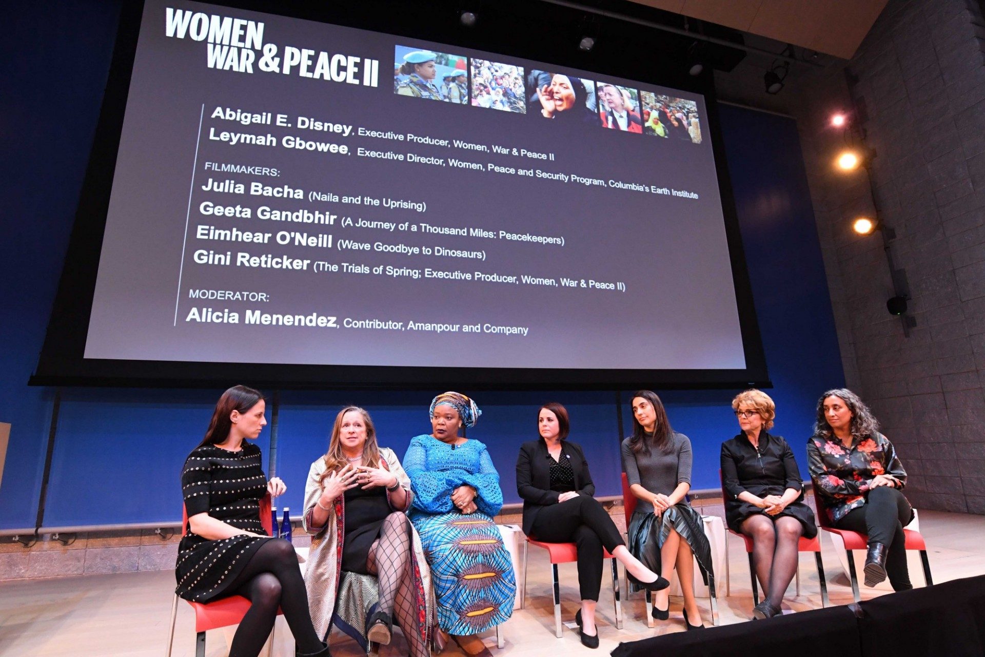 "Speakers at the Public Event for the launch of ""Women, War and Peace II"" Series"