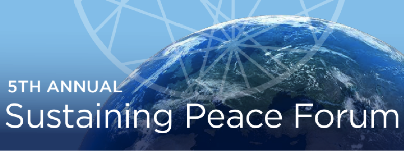 Banner for the 2017 Sustaining Peace Forum