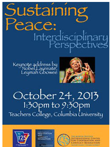 Flyer from the 2012 Sustaining Peace Forum