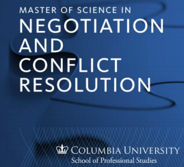 Logo for the Master of Science in Negotiation and Conflict Resolution at the School of Professional Studies at Columbia University