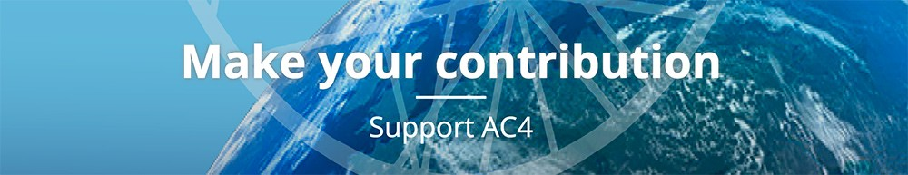 "Banner that reads: ""Make your contribution: Support AC4"""