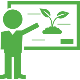 Clipart of a professor teaching about the environment