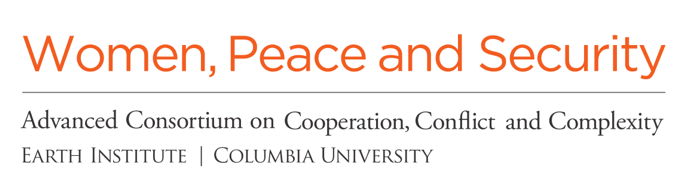 Logo for the Women, Peace, and Security program at AC4